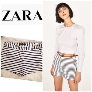 ⭐️HP⭐️Zara Basic navy & white striped shorts
